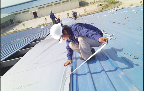 sửa chữa mái tôn nhà
