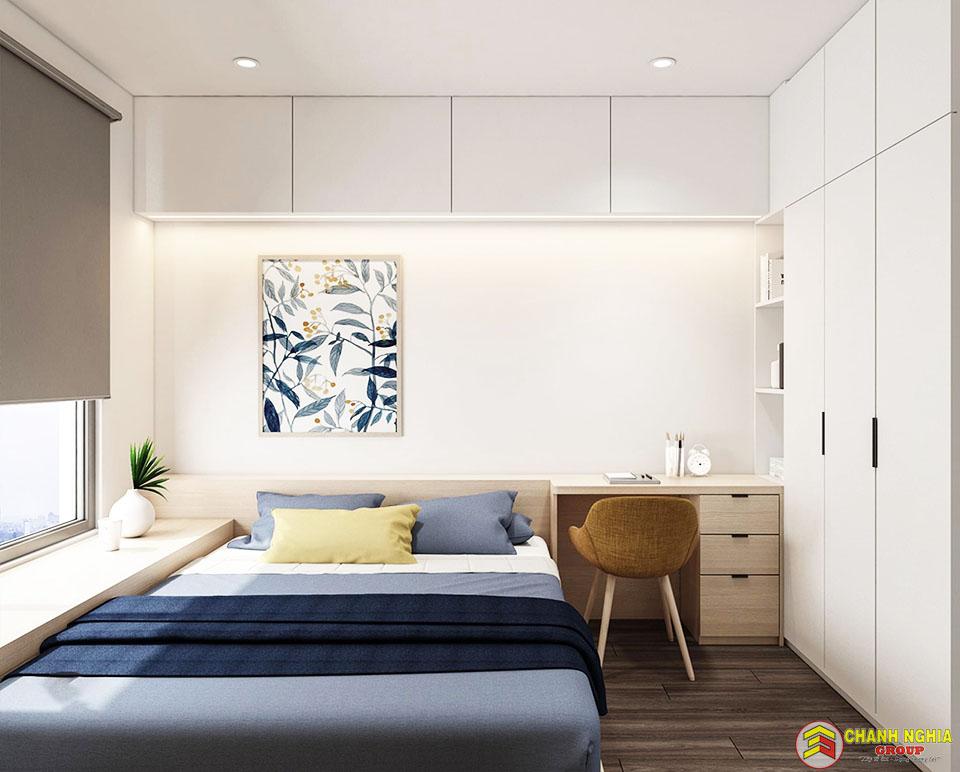 Phòng ngủ nhà phố hiện đại 1 trệt 3 tầng