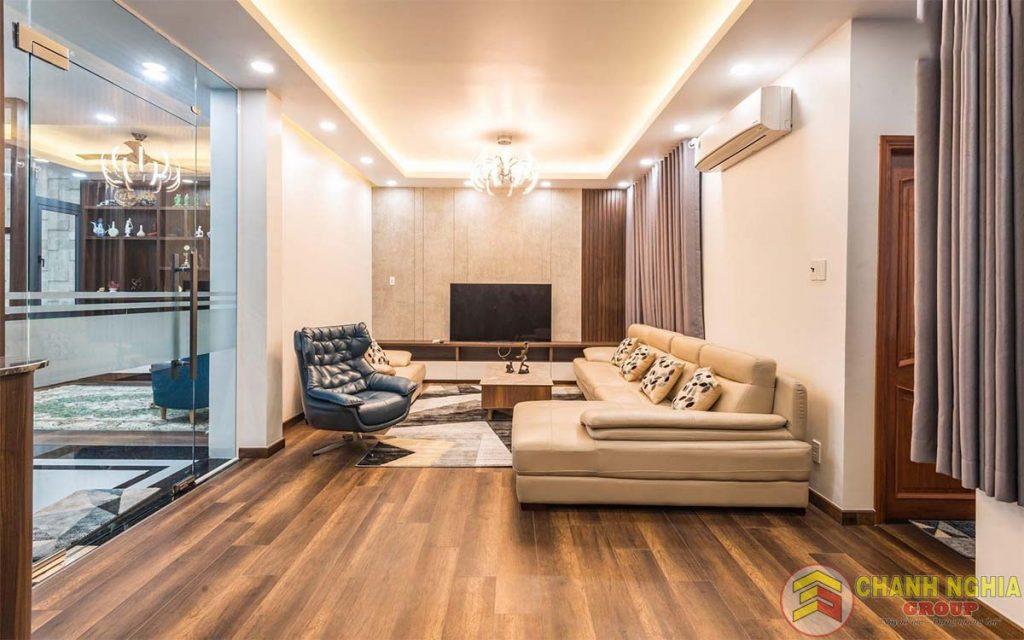 Phòng khách dành cho nhà phố hiến đại