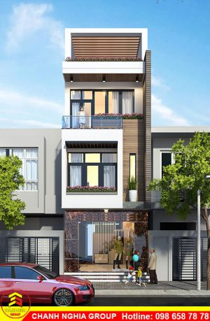 mẫu nhà phố hiện đại 5x20 xây dựng nhà phố hiện đại tại bình dương chanh nghia group