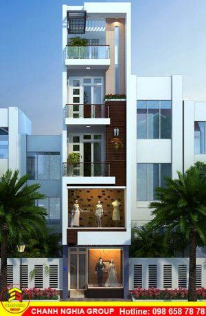 mẫu nhà phố hiện đại 5x25 xây dựng nhà phố hiện đại ở bình dương chanh nghia group 1