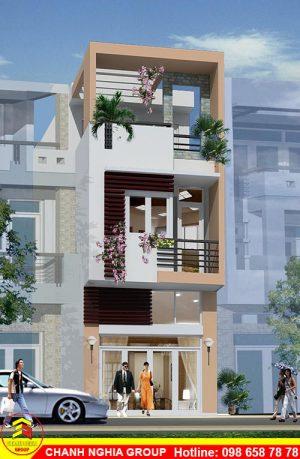 mẫu nhà phố hiện đại xây dựng nhà phố hiện đại ở bình dương chanh nghia group 1