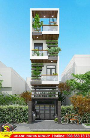mẫu nhà phố hiện đại xây dựng nhà phố hiện đại ở bình dương chanh nghia group 2