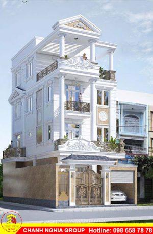 mẫu nhà phố tân cỗ điển xây dựng nhà phố tân cỗ điện ở bình dương chanh nghia group