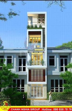 xây nhà phố tại bình dương mẫu nhà phố hiện đại 5 tầng xây dựng nhà phố hiện đại tại bình dương chanh nghia group