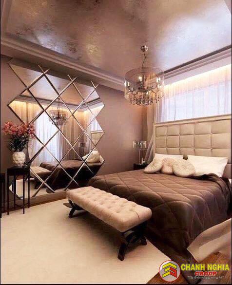 Phòng ngủ được thiết kế cho nhà phố hiện đại