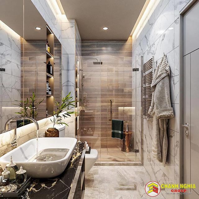 Mẫu nhà vệ sinh dành cho nhà phố hiện đại
