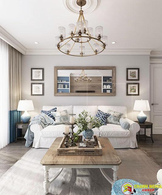 Mẫu phòng khách dành cho nhà phố hiện đại