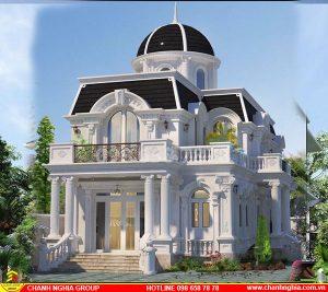 Mẫu Nhà Biệt thự Tân Cổ Điển Đẹp 3 Tầng Năm 2020