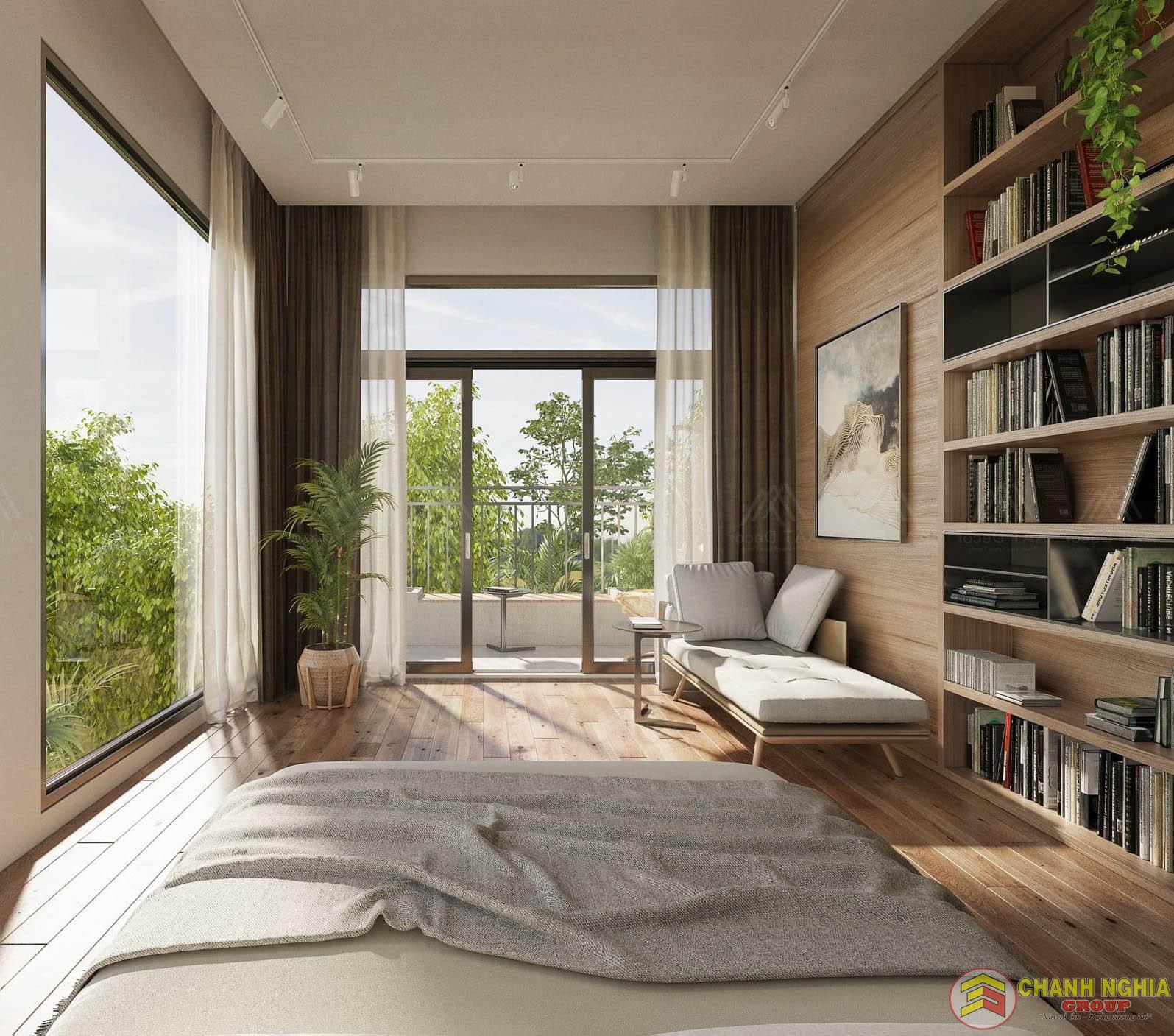 Phòng ngủ biệt thự tân cổ điển
