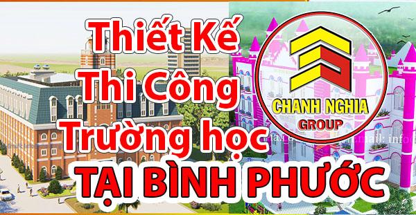 thiết kế thi công trường học tại Bình Phước
