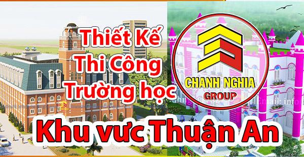 thiết kế thi công trường học tại Thuận An Bình Dương
