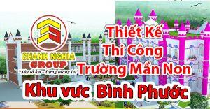 thiết kế thi công trường mầm non Ở Bình Phước