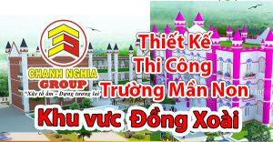 thiết kế thi công trường mầm non tại Đồng Xoài Bình Phước