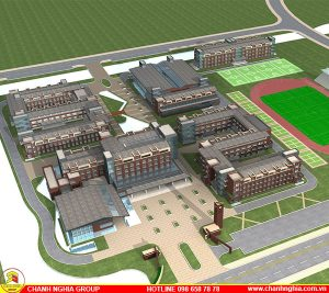 thiết kế thi công xây dựng trường học trường trung tâm dạy học