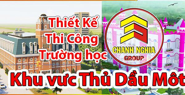 thiet ke thi cong truong hoc tai Thu Dau Mot Binh Duong