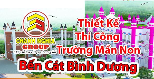 thiet ke thi cong truong mam non tai Ben Cat Binh Duong