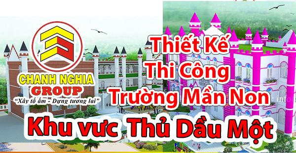 thiet ke thi cong truong mam non tai Thu Dau Mot Binh Duong