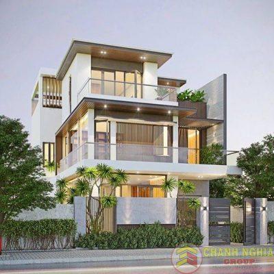 Hình minh họa nhà được sử dụng vật liệu kính