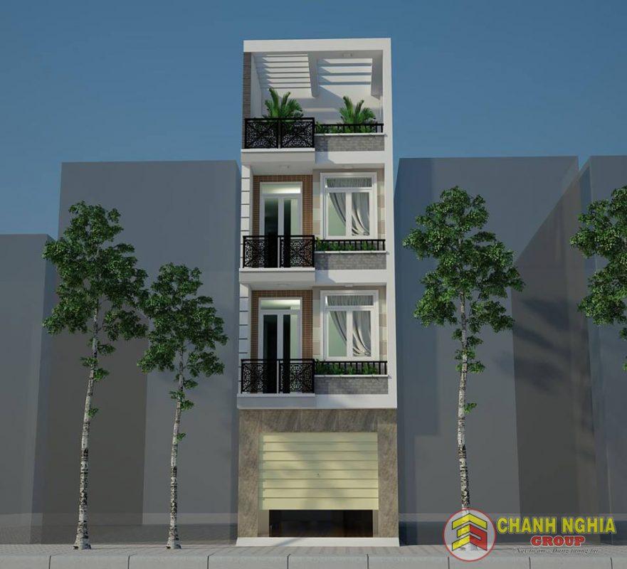 Mẫu nhà phố hiện đại 1 trệt 3 lầu năm 2021 (Chanh Nghia Group)