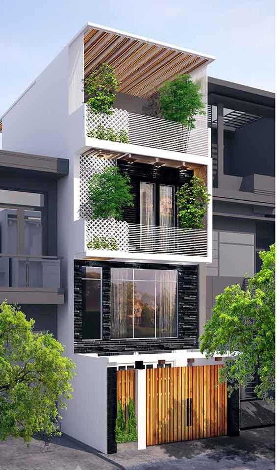 Nhà phố hiện đại 1 trệt 3 lầu